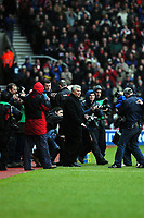 PHOTO:ALAN CROWHURST.SOUTHAMPTON V LIVERPOOL.BARCLAYCARD PREMIERSHIP 14/03/2004.PAUL STURROCK IS GREETED BY THE PRESS AT HIS FIRST GAME IN CHARGE.