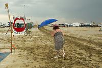 Tough to Walk on Wet Playa