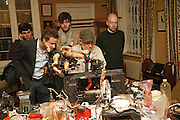 Oliver Basciano ( scarf behind)  and Gustav Metzer, Polymorphous Perverse. Tim Noble and Sue Webster curated by James Putnam. the freud Museum. Maresfield Gdns. London. 7 November 2006. ONE TIME USE ONLY - DO NOT ARCHIVE  © Copyright Photograph by Dafydd Jones 66 Stockwell Park Rd. London SW9 0DA Tel 020 7733 0108 www.dafjones.com