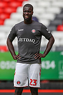 Charlton Athletic defender Mouhamadou-Naby Sarr (23) warming up during the EFL Sky Bet League 1 match between Charlton Athletic and Shrewsbury Town at The Valley, London, England on 11 August 2018.