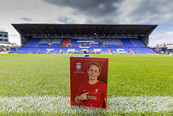 BIRKENHEAD, ENGLAND - Sunday, August 29, 2021: The official matchday programme before the FA Women's Championship game between Liverpool FC Women and London City Lionesses FC at Prenton Park. London City won 1-0. (Pic by Paul Currie/Propaganda)