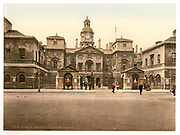 Stunning Old photochrome prints turn back the clock in London <br /> <br /> colourised postcards from the Victorian era,  postcards were made using photochrom - a method of producing colourised photos from negatives<br /> <br /> Photo shows: Whitehall, horse guards, London, England, between 1890 and 1900<br /> ©Library of Congress/Exclusivepix Media
