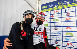 Urska Zigart and Tadej POGACAR of UAE TEAM EMIRATES during 2nd Stage of 27th Tour of Slovenia 2021 cycling race between Zalec and Celje (147 km), on June 10, 2021 in Slovenia. Photo by Vid Ponikvar / Sportida