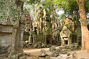 19 MARCH 2006 - SIEM REAP, SIEM REAP, CAMBODIA: The Preah Khan temple complex within the environs of the Angkor Wat complex. Preah Khan, an 11th century temple built in the Buddhist tradition, is one of the outer temples of the Angkor complex and has not been restored like many of the temples in the Angkor complex.  Photo by Jack Kurtz / ZUMA Press