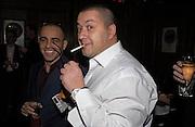 Lorenzo Agius and Alan Rosenthal, Tatler magazine Little Black Book party, Tramp. Jermyn St. 10 November 2004. ONE TIME USE ONLY - DO NOT ARCHIVE  © Copyright Photograph by Dafydd Jones 66 Stockwell Park Rd. London SW9 0DA Tel 020 7733 0108 www.dafjones.com