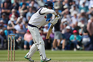 James Logan of Yorkshire batting during the Specsavers County Champ Div 1 match between Yorkshire County Cricket Club and Warwickshire County Cricket Club at York Cricket Club, York, United Kingdom on 18 June 2019.