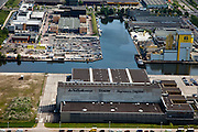 Nederland, Amsterdam, Amsterdam-Oost, 25-05-2010. Amstel Business park met Drukkerij PCM (Duivendrechtse Vaart, Johan Muyskensweg, Van der Madeweg).luchtfoto (toeslag), aerial photo (additional fee required).foto/photo Siebe Swart