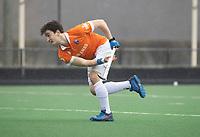 BLOEMENDAAL - Hockey.  Tim Swaen (Bldaal) Bloemendaal HI-Tilburg HI, oefenwedstrijd.    COPYRIGHT  KOEN SUYK