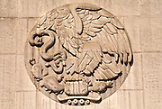 MEXICO, MEXICO CITY, CHAPULTEPEC br/>National seal, eagle, serpent on cactus