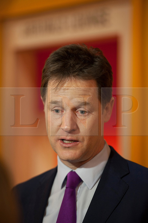 © Licensed to London News Pictures.  29/01/2015. Bristol, UK.  Deputy Prime Minister Nick Clegg visits Engine Shed at Temple Meads in Bristol to confirm an extra £18.1 million from the Government to the West of England Local Enterprise Partnership between 2016 and 2021. The deal will help Engine Shed Phase 2 in Bristol to expand and create more space for business incubation, offices for businesses to grow into, as well as meeting and collaboration space. The deal will also create 6000 new jobs, build 11500 new homes and generate up to £200m public and private investment. Photo credit : Simon Chapman/LNP