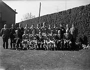 28/04/1962<br /> 04/28/1962<br /> 28 April 1962<br /> Schoolboys Hockey International Ireland v England at Londonbridge Road, Dublin. The Irish team.