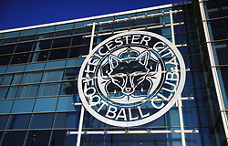 """General view of the Leicester City badge before the Carabao Cup, third round match at the King Power Stadium, Leicester. PRESS ASSOCIATION Photo. Picture date: Tuesday September 19, 2017. See PA story SOCCER Leicester. Photo credit should read: Mike Egerton/PA Wire. RESTRICTIONS: EDITORIAL USE ONLY No use with unauthorised audio, video, data, fixture lists, club/league logos or """"live"""" services. Online in-match use limited to 75 images, no video emulation. No use in betting, games or single club/league/player publications."""