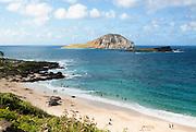 Manana Island, known as Rabbit Island, is found on the windward side of Ohau, Hawaii