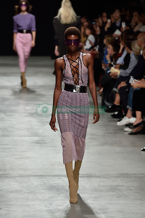 A model walks the runway at the Veronique Leroy show as a part of Paris Fashion Week Ready to Wear Spring/Summer 2017 on 01 October, 2016 in Paris, France. Photo by Alban Wyters/ABACAPRESS.COM