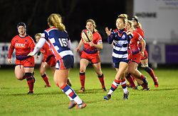 Elinor Snowsill of Bristol Ladies passes the ball - Mandatory by-line: Paul Knight/JMP - 16/12/2017 - RUGBY - Cleve RFC - Bristol, England - Bristol Ladies v Worcester Valkyries - Tyrrells Premier 15s
