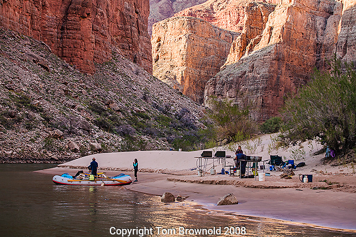 Morning in camp at river mile 45, Eminence Break, on the Colorado River. Day 3 of 18.