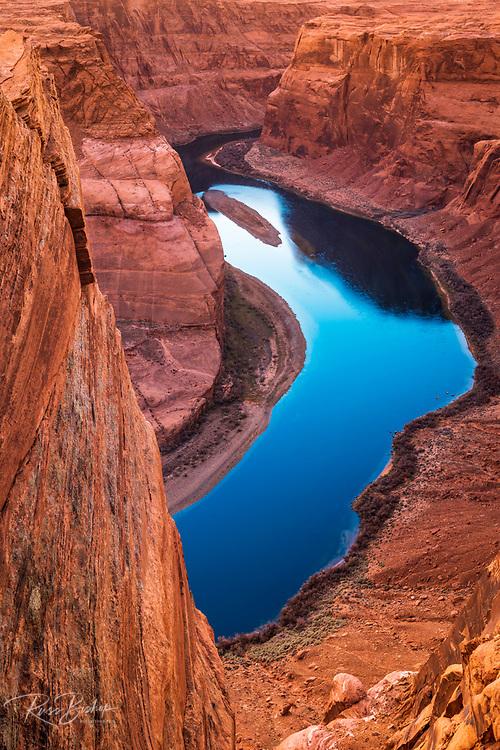 Sunset over Horseshoe Bend and the Colorado River, Glen Canyon National Recreation Area, Arizona USA