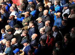23 April 2017 - EFL Championship Football - Aston Villa v Birmingham City - Birmingham City fans look tense as they watch the match - Photo: Paul Roberts / Offside