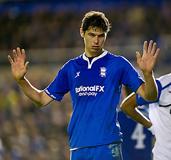 03.11.2011, St. Andrews Stadion, London, ENG, UEFA EL, Gruppe H, Birmingham City (ENG) vs FC Bruegge (BEL), im Bild Birmingham City's Nikola Zigic in action against Club Brugge // during UEFA Europa League group H match between Birmingham City (ENG) and FC Bruegge (BEL) at St. Andrews , London, United Kingdom on 03/11/2011. EXPA Pictures © 2011, PhotoCredit: EXPA/ Propaganda Photo/ David Rawcliff +++++ ATTENTION - OUT OF ENGLAND/GBR+++++