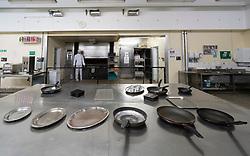 Kitchens inside  former prisoner hall at Peterhead Prison Museum in Peterhead, Aberdeenshire, Scotland, UK