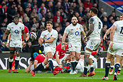 Twickenham, England, 7th March 2020, Ben YOUNGS, passing the ball during the, Guinness Six Nations, International Rugby, England vs Wales, RFU Stadium, United Kingdom, [Mandatory Credit; Peter SPURRIER/Intersport Images]