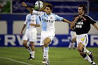Fotball, 11. januar 2005,  privatkamp, Feyenoord - Rosenborg 4-1. Hossam Ghaly Feyenoord og Roar Strand, Rosenborg<br />  Foto: Digitalsport