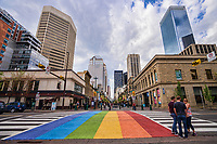 Rainbow Crossing, Stephen Avenue Walk & Centre Street