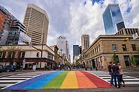 Rainbow Crossing, Stephen Avenue Walk & Centre Street