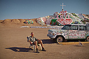 "Salvation Mountain is a colorful art installation covering much of a small hill north of Calipatria, California, near Slab City and just several miles from the Salton Sea. It is made from adobe, straw, and thousands of gallons of paint. It was created by Leonard Knight to convey the message ""God Is Love."" Leonard ended up here while trying to fly the largest Hot Air balloon ever made (by him...)...A 4-weeks road trip across the USA, from New York to San Francisco, on the steps of Jack Kerouac's famous book ""On the Road"".  Focusing on nomadic America: people that live on the move across the US, out of ideology or for work reasons."