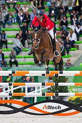 Luca Maria Moneta, (ITA), Neptune Brecourt - Team & Individual Competition Jumping Speed - Alltech FEI World Equestrian Games™ 2014 - Normandy, France.<br /> © Hippo Foto Team - Leanjo De Koster<br /> 02-09-14