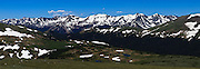 USA, Colorado, Rocky Mountain National Park, Never Summer Mountains from Trail Ridge Road, digital composite, panorama