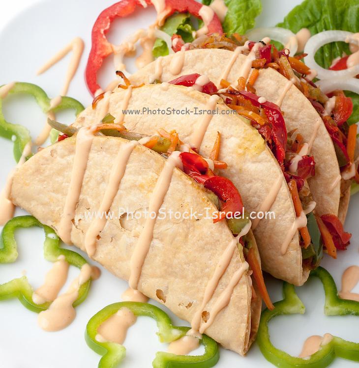 Vegetable Taco sandwich snack