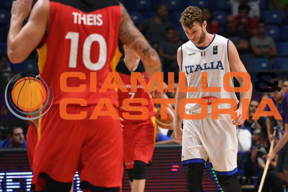 Nicolo Melli<br /> Nazionale Italiana Maschile Senior<br /> Eurobasket 2017 - Group Phase<br /> Italia Germania Italy Germany<br /> FIP 2017<br /> Tel Aviv, 05/09/2017<br /> Foto M.Ceretti / Ciamillo - Castoria
