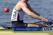 20040814 Olympic Games Athens Greece [Rowing]<br /> Photo  Peter Spurrier <br /> USA M2- , moves off the start on the opening day of the Olympic regatta.<br /> <br /> email;  images@intersport-images.com<br /> Tel +44 7973 819 551<br /> T<br /> <br /> <br /> [Mandatory Credit Peter Spurrier/ Intersport Images]