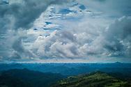 Vastness of a mountainous landscape, Southwest of Lang Son on DT 234, Vietnam, Southeast Asia