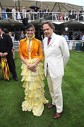 DELFINA BLAQUIER and the EARL OF MARCH at the 3rd day of the 2008 Glorious Goodwood racing festival at Goodwood Racecourse, West Sussex on 31st July 2008.<br /> <br /> NON EXCLUSIVE - WORLD RIGHTS