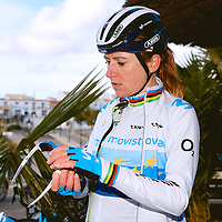 Annemiek van Vleuten. 2021 Movistar Team Training Camp, Almería. 10.1.2021.