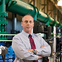 Jim Fletcher, Executive Director of Cape Fear Public Utility Authority photographed at Sweeney Water Treatment Plant in Wilmington, NC, Friday, January 19, 2018. Photo by Michael Cline Photography