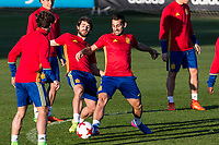 Yeray Alvarez and Jonathan Castro during the training of Spanish national team under 21 at Ciudad del El futbol  in Madrid, Spain. March 21, 2017. (ALTERPHOTOS / Rodrigo Jimenez)