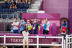 Kiss and Cry, Team Sweden<br /> Olympic Games Tokyo 2021<br /> © Hippo Foto - Dirk Caremans<br /> 24/07/2021
