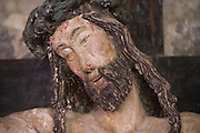 close up of Jesus head on the cross