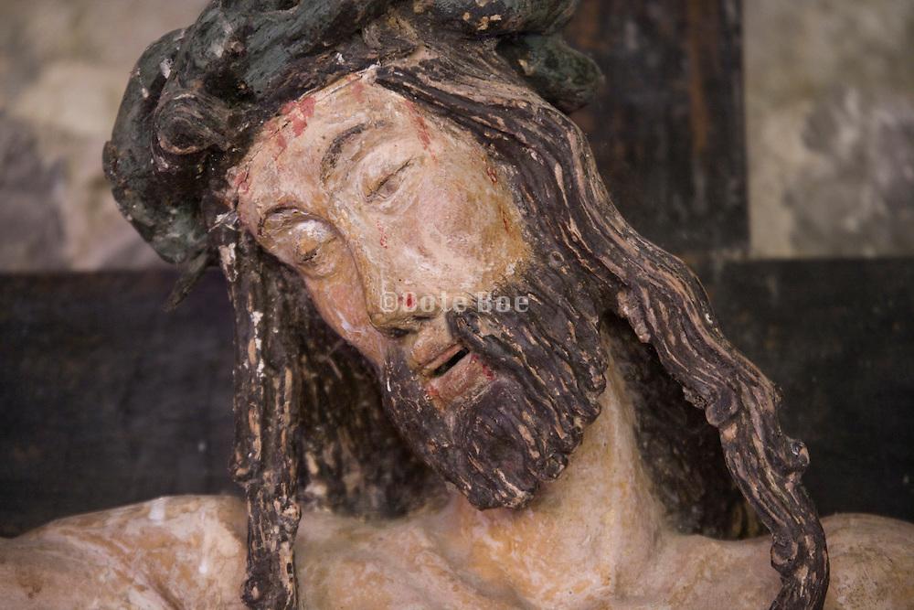 close up of Jesus head on the cross