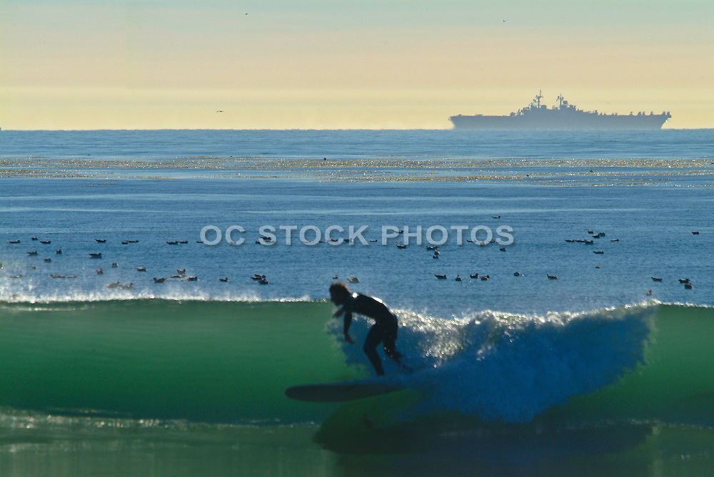Surfing Waves at Trestles in San Clemente