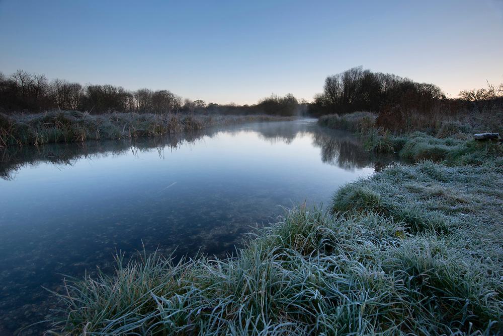 Winter on the River Test at Longparish, Hampshire.