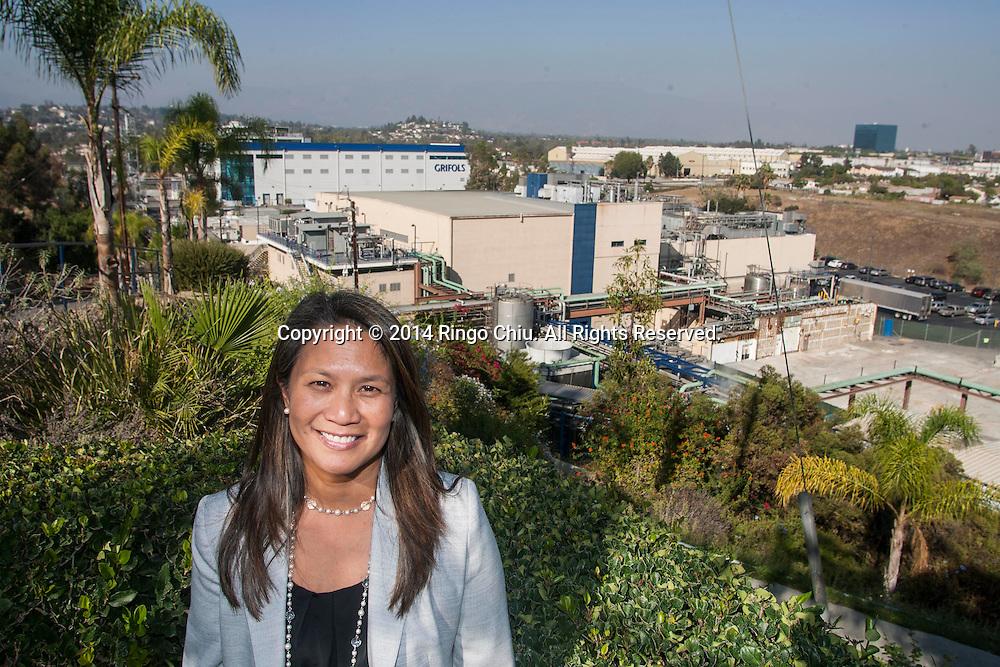 Karen Glenn, public affairs manager, of Grifols Ins. (Photo by Ringo Chiu/PHOTOFORMULA.com)