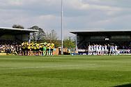 Leeds United and Burton Albion remember Ugo Ehiogu during the EFL Sky Bet Championship match between Burton Albion and Leeds United at the Pirelli Stadium, Burton upon Trent, England on 22 April 2017. Photo by Richard Holmes.