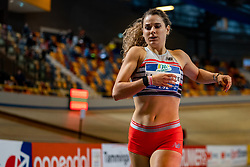 Laura De Witte in action on the 400 meter during AA Drink Dutch Athletics Championship Indoor on 20 February 2021 in Apeldoorn.