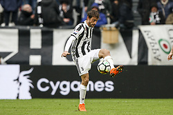 March 11, 2018 - Turin, Italy - Juventus midfielder Claudio Marchisio (8) reaches for the ball during the Serie A football match n.28 JUVENTUS - UDINESE on 11/03/2018 at the Allianz Stadium in Turin, Italy. (Credit Image: © Matteo Bottanelli/NurPhoto via ZUMA Press)