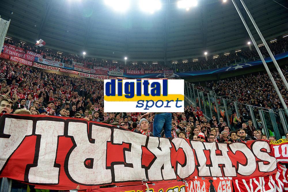 Tifosi Bayern Supporters <br /> Torino 23-02-2016 Juventus Stadium, Football Champions League 2015/2016 Round of 16 Juventus - Bayern Munich / Juventus - Bayern Monaco .  Foto Filippo Alfero / Insidefoto