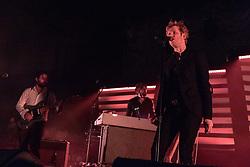 July 1, 2018 - Milwaukee, Wisconsin, U.S - ALEX FISCHEL, GERARDO LARIOS and BRITT DANIEL of Spoon during Summerfest Music Festival at Henry Maier Festival Park in Milwaukee, Wisconsin (Credit Image: © Daniel DeSlover via ZUMA Wire)